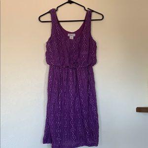 Candie's Purple Mini Tank Dress Size X Small